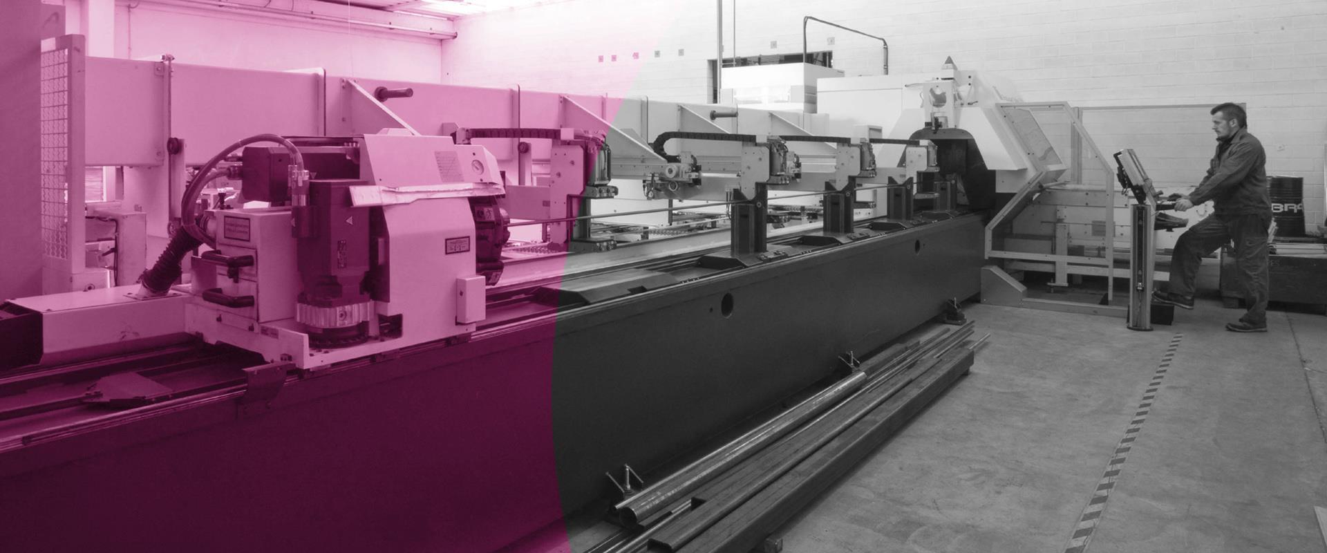 Lavorazione taglio laser tubo in metallo