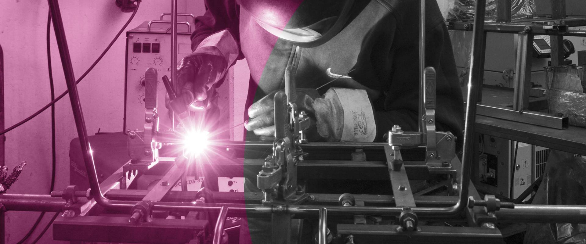 Saldatura manuale tubo in metallo